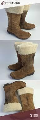 womens ugg denhali boots ugg s denhali leather brown boots euc 8 5 ugg australia