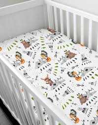 the tribe crib fitted sheet rock u0026 rollick