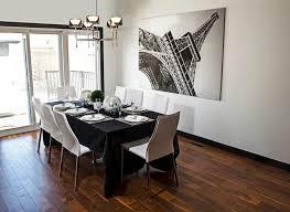 dining room dark brown wooden four bar stool dining room sets wall