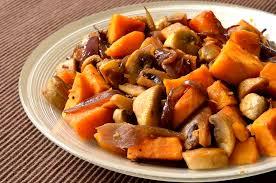cuisiner patate douce poele poêlée de patate douce et chignons aux épices ma cuisine santé