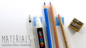 drawing materials art supplies i use for my colored pencil