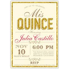 quince invitations faux glitter border typography quinceanera invitations paperstyle