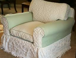 chair and a half slipcovers chenille bedspread chair slipcover slipcovers by shelley