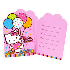 Party Invitation Cards Templates Hello Kitty Party Invitations Theruntime Com