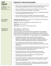 Resume Format Pdf For Experienced It Professionals by Free Professional Computer Programmer Resume Template Sample