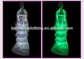 glowing fiber optical fabric oriental wedding dress online sale
