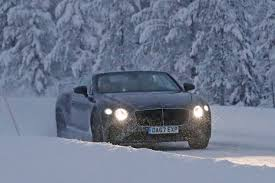 bentley front new bentley continental gtc drops roof for winter testing auto