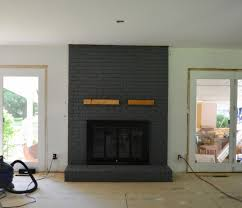 houzz painted brick fireplaces home