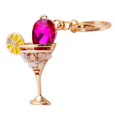 wine glass keychain fashion wineglass keychain women gift charm metal