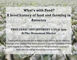 What S In Flower Food What U0027s With Food Free Class Saturday 7 29 Monument Market