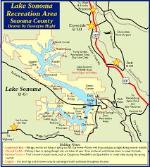 sonoma california map lake sonoma map lake sonoma sanfrancisco bayarearegion