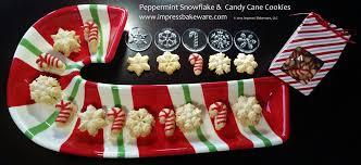 peppermint snowflake u0026 candy cane cookies u2013 creative cookie press