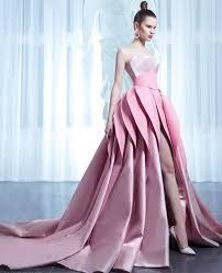 dress designer 2017 new arrival designer pink wedding dresses with layered skirt