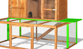 Rabbit Hutch Extension Connected A Rabbit Hutch A Run Ramps And Tunnels