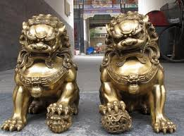 images of foo dogs a pair of brass foo dogs temple lions 11 inch