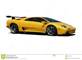 yellow lamborghini yellow lamborghini side view stock image image 10546213