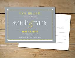 save the date postcard deco inspired printable save the date postcard