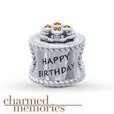 kay jewelers charms kay charmed memories birthday cake charm crystals st silv enamel