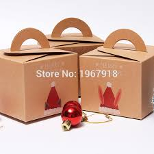 gift boxes christmas 50pcs merry christmas paper box kraft paper christmas gift box