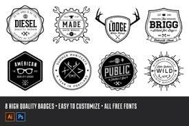 design a vintage logo free vintage logo badge kit volume 1 retrosupply co
