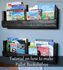 how to make a pallet bookshelf refurbished ideas