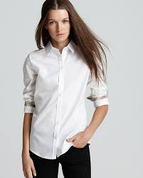 blouse button burberry brit basic button blouse where to buy how to wear