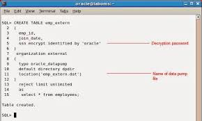 Create Table Oracle Sql Oracle Database 12c Using An External Table Containing An