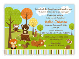 woodland animals baby shower invitations woodland forest