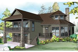 hillside walkout basement home plans home plan