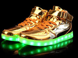 high top light up shoes men and women s led light up shoes led luminous high top shoes gold