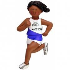 american track runner ornament personalized