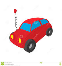 car toy clipart toy red car cartoon icon stock vector image 79644163