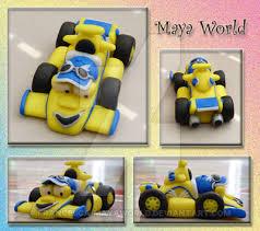cake topper roary racing car maxi francesca mayaworld