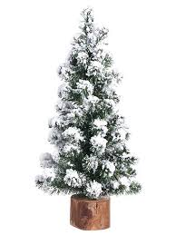 christmas tree with snow christmas stems and decor alpine tree with snow 15 in