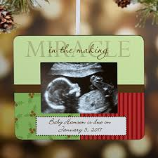 baby announcement personalized ornament frame