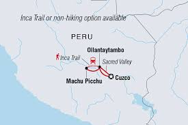 Peru South America Map by Trekking The Inca Trail U0026 Machu Picchu Intrepid Travel Us