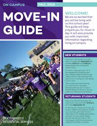Weber State University Campus Map by Northwestern On Campus Move In Guide By Northwestern University