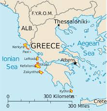 Greece Map Blank by Ionian Islands U2022 Mapsof Net