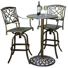 Outdoor Bistro Table Bar Height Balcony Bar Height Patio Dining Sets Hayneedle