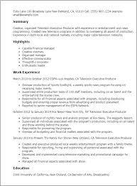 producer resume 12 resume templates television executive producer