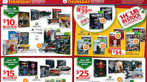 thanksgiving day deals in walmart wal mart best buy target black friday game deals revealed gamespot