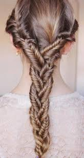 easy hairstyles with box fishtales its the three fish tale braids then braid them together looks