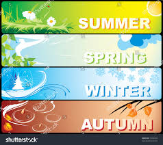 theme line winter four colourful banners on theme winter stock vector 10922029