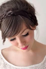 best 25 wedding bangs ideas on pinterest short hair updo