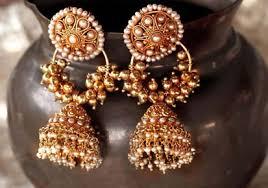 kerala style earrings pearl jhumka style earring kerala news kerala breaking