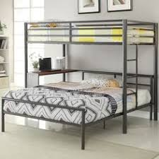 gun metal full over full size bunk bed www thebunkbedoutlet com