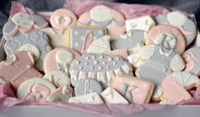 pink and grey baby shower sweet pink gray baby shower cookies cookie connection
