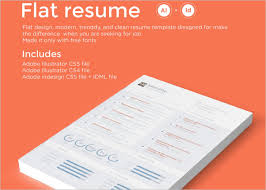 flat resume templates word samples examples creative template