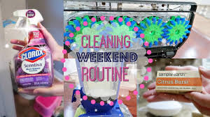 weekend cleaning routine cleaning motivation how i clean my