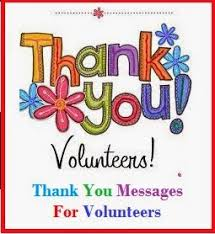 thank you messages volunteers
